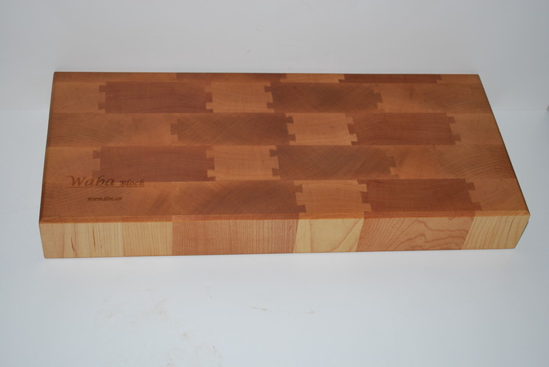 Maple endgrain with double dovetail joints