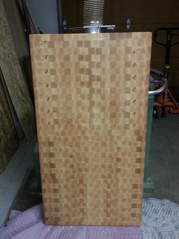 Maple end grain
