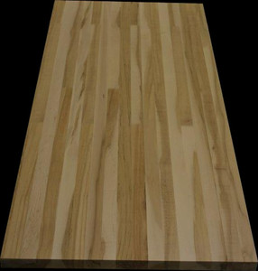 "1 1/2"" hard maple top with mixed coloured wood, 26 3/4""x 60"""